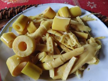 Cooked bamboo shoots